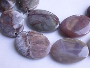 ~ PIETERSITE 40mmX29mm OVAL  SEMI PRECIOUS STONE BEADS ~ sp91