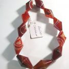ONE STRAND CARNELIAN 35mmX20mm FACETED  SEMI PRECIOUS BEADS~ F274