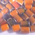 58 SHADED ORANGE TO BROWN CERAMIC BEADS ~ F293