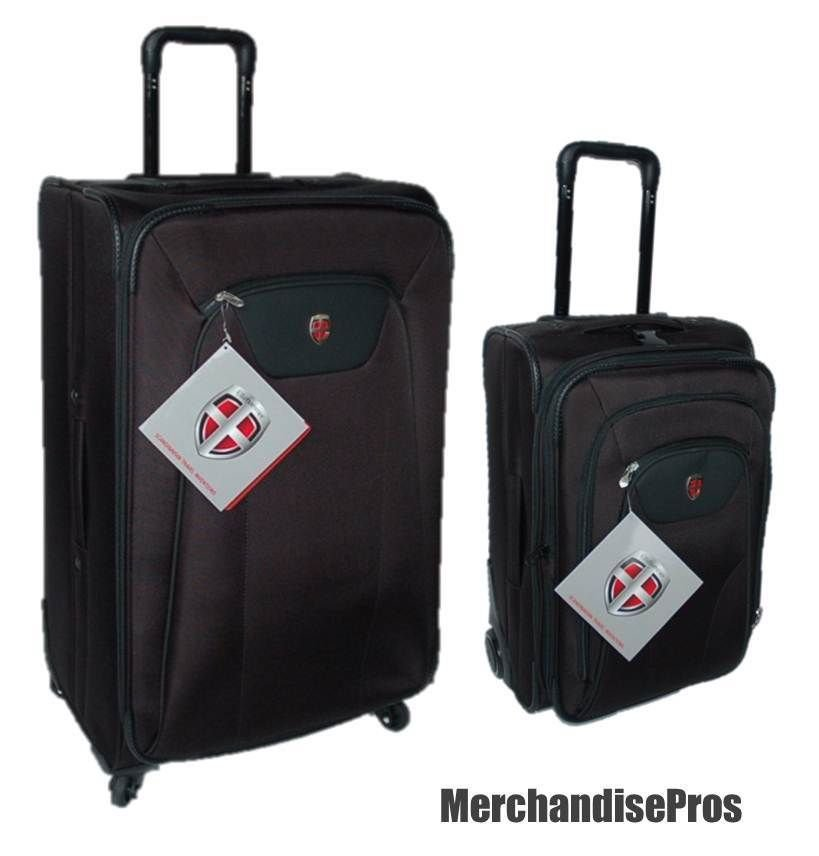"2 PC ELLEHAMMER LUGGAGE 21"" CARRY-ON & 27.5"" LARGE SPINNER ..."