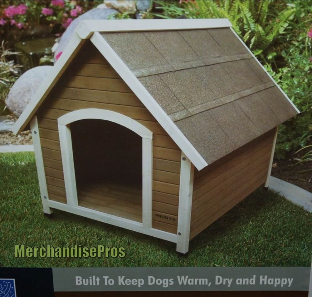 Precision pet outback country lodge wooden dog house for
