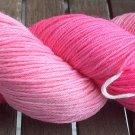 Hand Dyed Yarn - Candy Pink - Merino Wool, Fingering/Sock Yarn 100gr