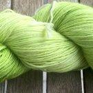 Hand Dyed Yarn - Lime Greens - Superwash Merino Wool, Fingering Yarn 100gr