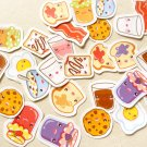 Cute Breakfast Sticker Pack of 30 - Kawaii Food Planner Stickers - Erin Condren Planner Stickers