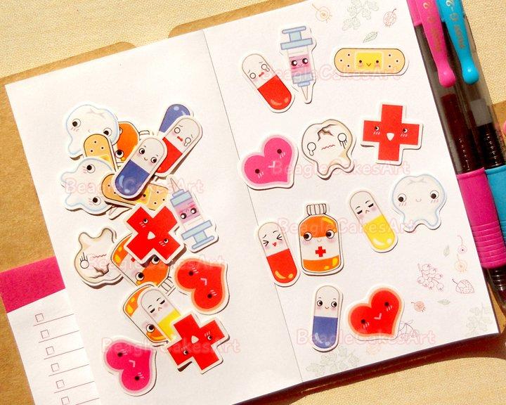 Health Planner Stickers: Doctor's Appointment Sticker Pack, Erin Condren Stickers