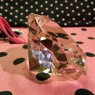 Big 60mm Pink 60 mm Cut Glass Crystal Giant Diamond Jewel Paperweight Gem