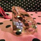 Big 60mm Pink 60 mm Cut Glass Crystal Giant Diamond Jewel Paperweight Gem