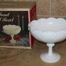 Indiana Milk Glass Garland Tall Bowl #7160 NOS IOB