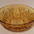 "Vintage Anchor Hocking Honey Gold STAR & CAMEO 8"" Chip Bowl"
