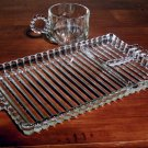 Vintage Hazel Atlas Orchard Crystal Snack Party Set