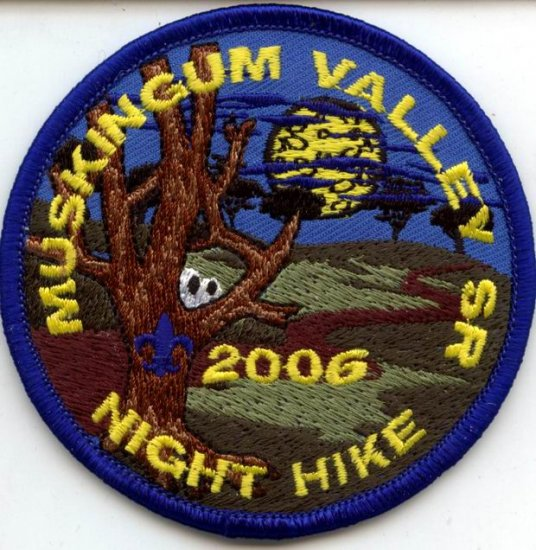 Boy Scout Patch Muskingum Valley SR Night Hike 2006