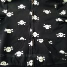 Skull hoodie women's warm cute funny punk rock emo retro metal