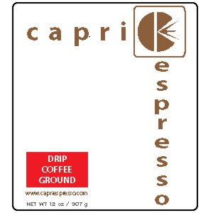 12 oz CAPRI ESPRESSO REGULAR DRIP COFFEE GROUND