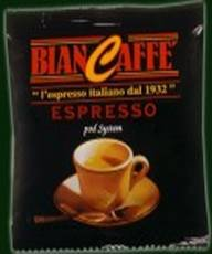 150 BIANCAFFE BLACK BLEND ESPRESSO ESE PODS -with kit