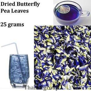 Butterfly Pea Dok Anchan Clitoria ternatea Antioxidant Dry tea Leaves 25 grams