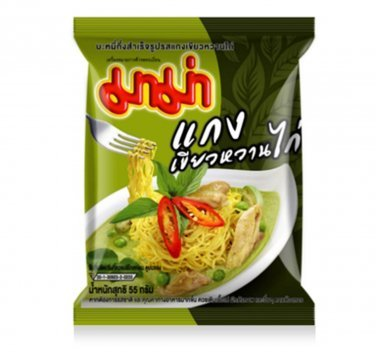 Mama Chicken Green Curry Instant Noodle 55g (Pack of 6)