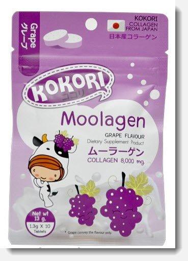 kokori Moolagen collagen 8,000mg Grape flavour