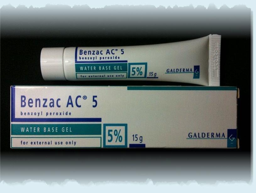 Benzac AC Water Base Gel 5% Benzoyl Peroxide Treating Acne Spots Problem 15g