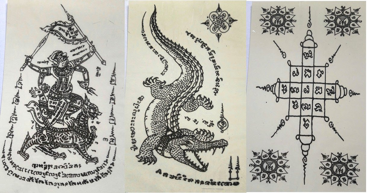 Temporary Thai Tattoos Stickers Waterproof Art Stickers set 1