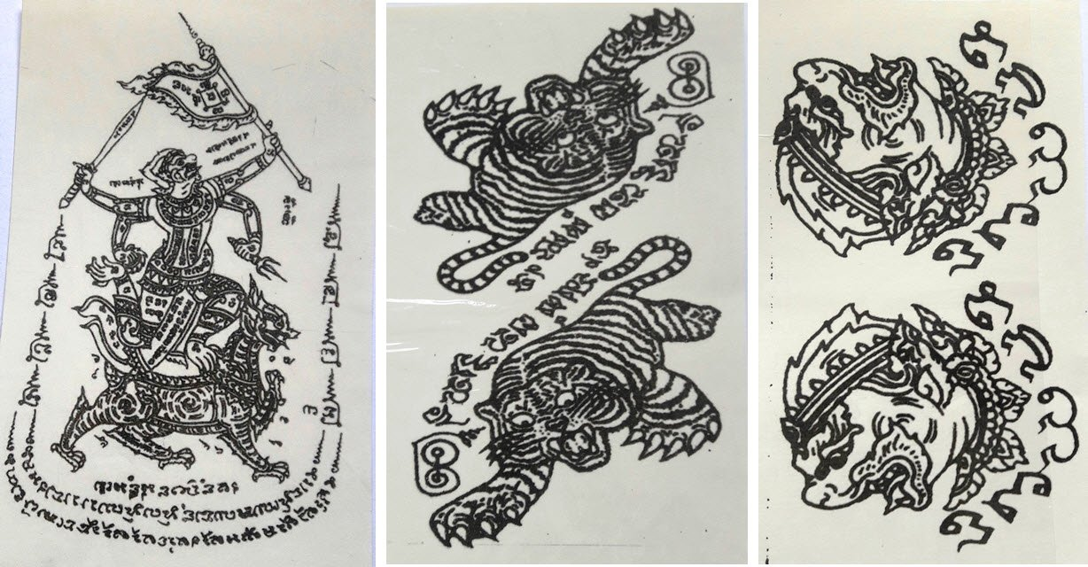 Temporary Thai Tattoos Stickers Waterproof Art Stickers set 2