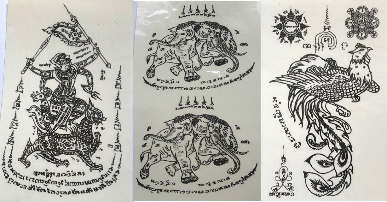 Temporary Thai Tattoos Stickers Waterproof Art Stickers set 3