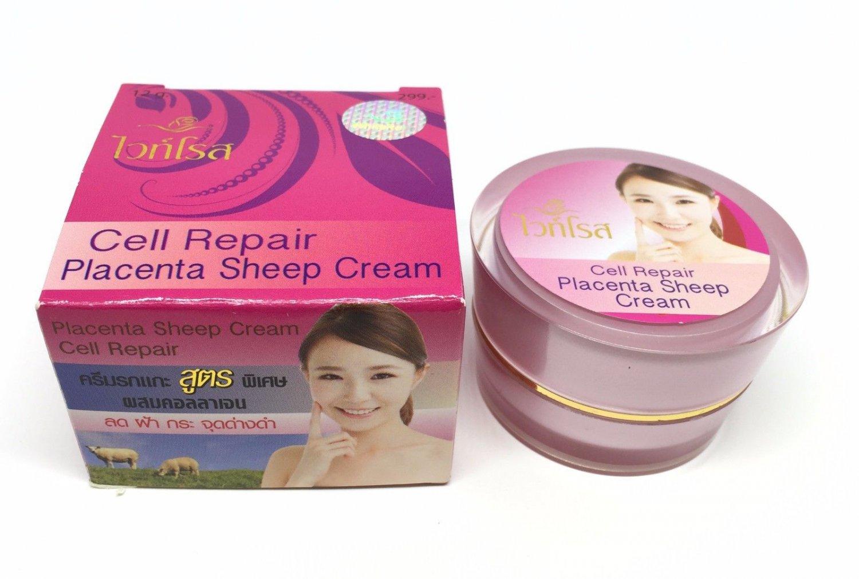 White Rose Whitening Cream Placenta Sheep Extra Cell Repair Collagen Plus