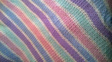 hand crochet twin sized soft blanket