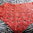 coral colored shawl