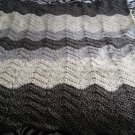 gray wave blanket