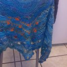 peacock colored shawl