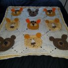 Lion, tiger, and bear kids blanket