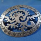 BROOCH / PIN: sterling 925 silver vintage vtg TAXCO ABSTRACT Monkey Bird