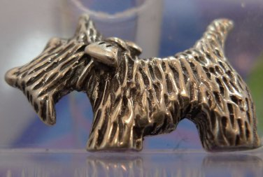 sterling 925 silver ATI MEXICO SCOTTIE SCOTTISH TERRIER BROOCH PIN ( 1.25 INCH )