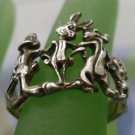 RING sz 7  sterling 925 WARNER BROS. BUGS BUNNY, TWEETY BIRD & FRIENDS