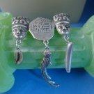 vintage BAR BROOCH / PIN: silver Coffee Bean Banana - Quetzal - Ancient Coin