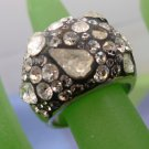 RING sz 7 PHANTASYA sterling 925 silver & MIXED SHAPES SWAROVSKI WHITE CRYSTALS