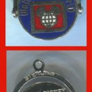 CHARM: sterling 925 silver WALT DISNEY WORLD SPINNER SOUVENIR