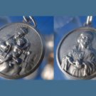 MARY & BABY JESUS SIDE ONE / JESUS CHARM / MEDAL: 800 SILVER