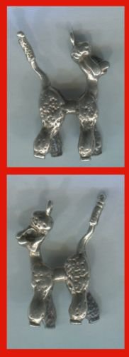 CHARM: TALL silver WHIMSICAL POODLE charm
