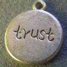 Silver Inspirational TRUST charm
