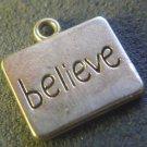 Silver Inspirational BELIEVE Charm