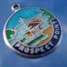 Prospect Point Enamel & Sterling Silver Charm