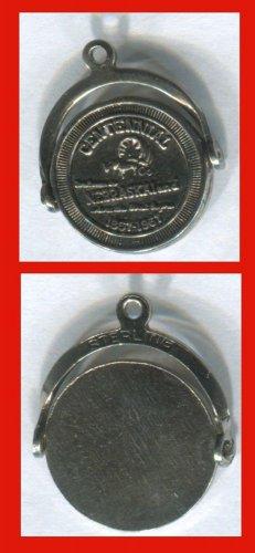 vintage 1967 SOUVENIR CHARM: sterling NEBRASKA CENTENNIAL SPINNER