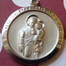 CHARM: SILVER RELIGIOUS MEDAL (PATRON SAINT) OF WORKERS ST JOSEPH PRAY FOR US