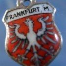FRANKFURT GERMANY Enamel & 800 Silver Travel Shield Souvenir Charm