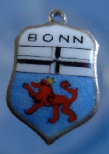 BONN Enamel & Sterling Silver Travel Shield Souvenir Charm 16490