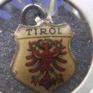 TIROL Enamel & Silver Travel Shield Souvenir Charm #21321