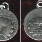 Inspirational Verse Charm 950 Silver - PEACOCK - GLORY 16mm