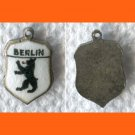 BERLIN Enamel & Sterling Silver Travel Shield Souvenir Charm