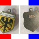 DEUTSCHLAND Enamel & Silver Travel Shield Souvenir Charm